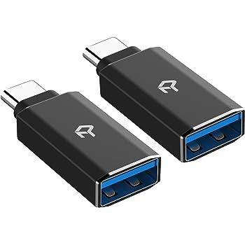 Rankie Adattatore USB C, Alta velocità USB-C 3,0 a USB-A 3,0, Pacco da 2, Nero