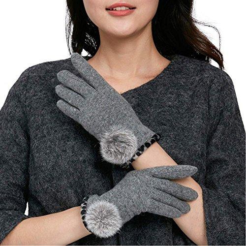 COMME LA VIE - Gant - Femme taille unique Gris