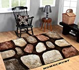 #1: HOMECRUST Plain Shaggy Fur Carpets for Home Living Room/Rugs - 3 x 5 Feet