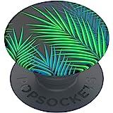 PopSockets: PopGrip Basic - Support et Grip pour Smartphone et Tablette [Top Non Interchangeable] - Midnight Palms