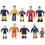 FUNERICA Set of 10 Toy and Fireman Figures