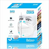 Bebop® N95 Face Mask | 5 Layered High Filtration Capacity with Genuine Meltblown and Hot Air Cotton | Five Layer Reusable Par