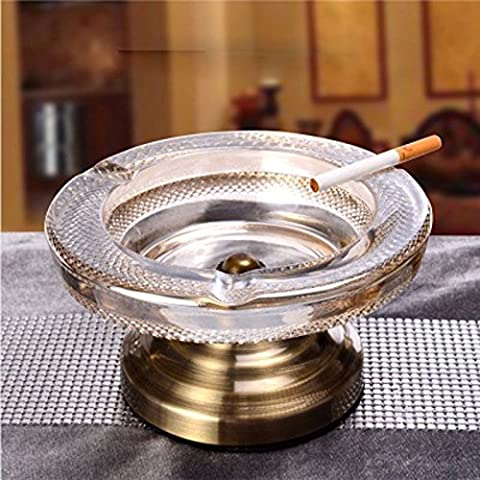 AJUNR-Automotive/Office/Travel High-Grade Glass Ashtray European Style Living Room Decoration Practical Creative Office Smoke Dish A