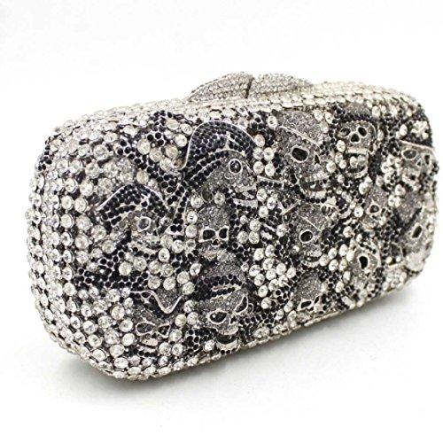 Cristallo Di Diamante Del Sacchetto Di Sera Delle Donne OneColor
