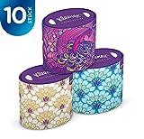 Kleenex - Caja oval de decoración, paquete de 10 unidades (toallitas...