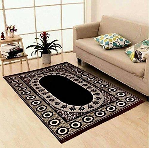 Red Hot Designer Carpet Size- 5 feet X 7 feet