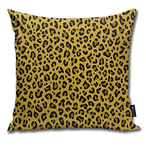 enmuster in Senfgelb kleine Skala Kollektion Leopardenmuster - Punk-Rock Animal Print Kissenbezug quadratisch Überwurf Kissenbezug für Sofa Schlafzimmer Auto 45,7 x 45,7 cm ()