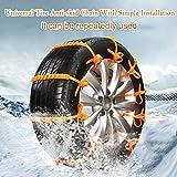 Catena di pneumatici,Sundlight 10PCS universale auto la neve Catene di...