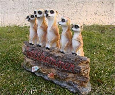 Willkommensschild Erdmännchen Figur Garten Deko von ... auf Du und dein Garten