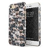 Glitbit Hülle Kompatibel mit iPhone 7/8 Pug Pattern Cute Dog Puppy Pug Life Goals Gift for Pug Mops Zubehör Geschenk D