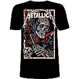 Metallica Death Reaper Hombre Camiseta Negro, Regular