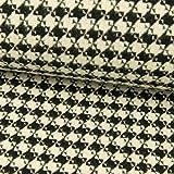 Stoffe Werning Mantelstoff Hahnentritt schwarz weiß