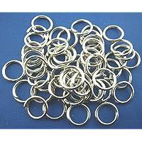 Bindering offen Ringe 7mm silberf. 50 St Biegering Spaltring Spiralring Ösen diy