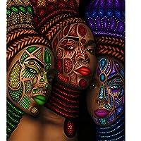 Pintura por Números para Adultos Mujer Africana Sexy 60x75cm