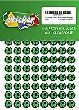 252 Aufkleber, Fußball, Sticker, 15 mm, grün/schwarz, aus PVC, Folie, bedruckt, selbstklebend, EM, WM, Bundesliga