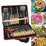 Dastrues 80 Pièces / Set Portable Fruits Légumes Nourriture Bois Boite Gravure Éplucheur Sculpture Kit D'Outils Paquet