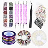 Nail Art Kit – 20 Tape Line Nail Sticker, 3 Box farbigen verschönern...