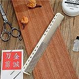 Ys-Park - Pettine professionale per parrucchiere [Resina Ultem] antistatica/resistente 339 Fine Cutting