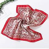 TIANLU Scialle sciarpa Wrap scialli colleghe donna moda sciarpe splendidi colori testa morbida sciarpe timbro quadrato piccolo Sciarpa Sciarpa stampata foulard di seta,14,50cm*50cm