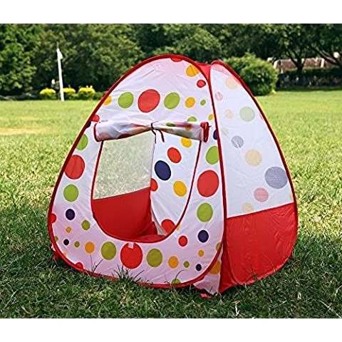 New Foldable Baby Infant Kid Child Toddler Outdoor Indoor Pop up Play Tent Playhouse Castle Canopy Beach Garden Grassland Toy for Children Baby Infant Kid Child Puppy Dog by Kakato