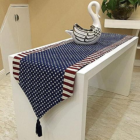 XXTT-Viento de Mediterráneo Oriental elegante bandera americana de doble cara un corredor doble