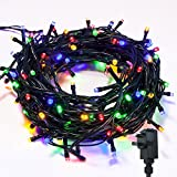 Fairy Lights WISD Low Voltage Xmas Lights Waterproof Indoor / Outdoor Use String Lights Mains with 8 Modes & Memory Function LED Christmas Lights Green Cable 52.8M 500 LED Multicolored for Christmas Xmas / Tree / Garden/ Wedding/ Party Decorations