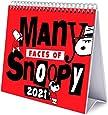 Calendario da Tavolo 2021 Snoopy, calendario da scrivania 2021, 20x18 cm