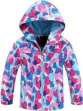 YoungSoul Gefütterte Regenjacke Jungen Mädchen Regenmantel Kapuzenjacke Übergangsjacke Wasserdicht Atmungsaktiv Outdoorjacke