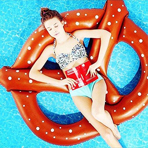 CHENGYI Schwimmendes Bett, Sommer-kühle Wasser-aufblasbare Donut-sich hin- und herbewegende Reihe, Swimmingpool-Floss-aufblasbares Spielzeug-Erwachsener u. Kind-sich hin- und herbewegender Bett-Wasser-Erholungs-Stuhl 150 * 150cm