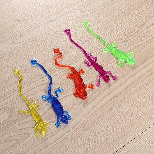 TOYMYTOY-Juguete-artificial-del-lagarto-de-la-falsificacin-artificial-24pcs-apoya-el-juguete-pegajoso-del-lagarto-del-estiramiento