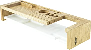 Office Organizer klipo, Büro Organizer aus Holz | Schreibtisch Ordnungssystem, Holz, Natur, 45 x 13, 5 x 8, 2 cm