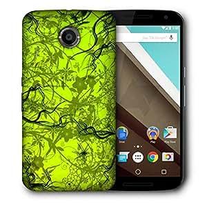 Snoogg Green Pattern Design Designer Protective Phone Back Case Cover For Motorola Nexus 6