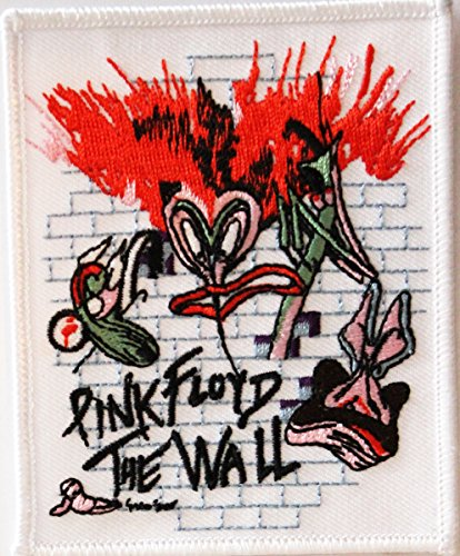 "PINK FLOYD The il Wall muro Rock Music musica Band banda Patch toppa, Officially Licensed Artwork, Iron-On / Sew-On, 3.8"" x 3.3"" Embroidered ricamato PATCH"