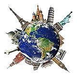3D Kreativ Wandaufkleber, Weltlandschaft Wandsticker Kinder Schlafzimmer Wandtattoos Wohnzimmer Fensterglas Dekorativen Entfernbare Wandaufkleber Dekor Wall Sticker Wall sticker Kinderzimmer Geschenk