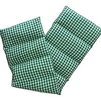 Bio-Dinkelkissen 75x20cm groß 8-Kammer grün-weiß; Wärmekissen, Körnerkissen preisvergleich bei billige-tabletten.eu