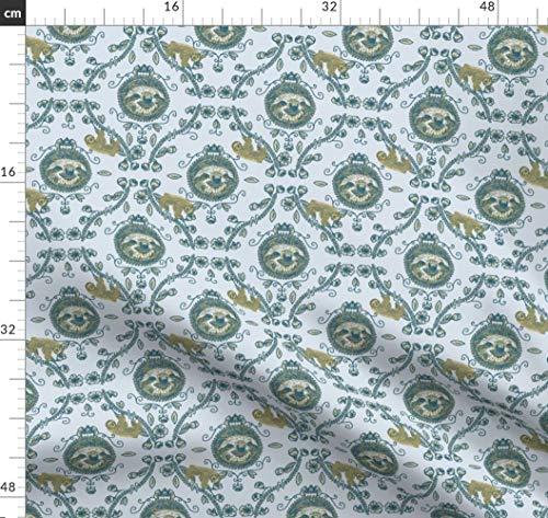 Faultier, Vintage, Altmodisch, Verschnörkelt, Klassisch, Meme Stoffe - Individuell Bedruckt von Spoonflower - Design von Senatorshoshana Gedruckt auf Synthetik Jersey -