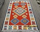 GRENSS Kelim handgewebte Wollteppiche ethnischen Stil Wohnzimmer Couchtisch Schlafzimmer Teppich Türkei und Pakistan wind gc 149-29