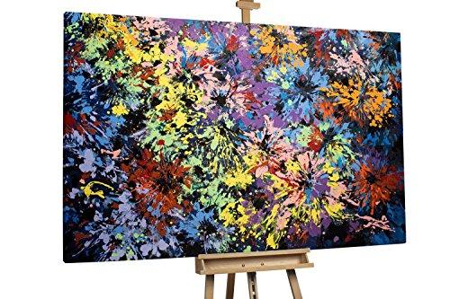 'Licht am Horizont' 180x120cm | Deko in Gelb Bunt Abstrakt | Modernes Kunst Ölbild