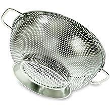 PriorityChef - Colino da cucina a maglia fine in acciaio INOX, diametro 26cm, capacità 3litri