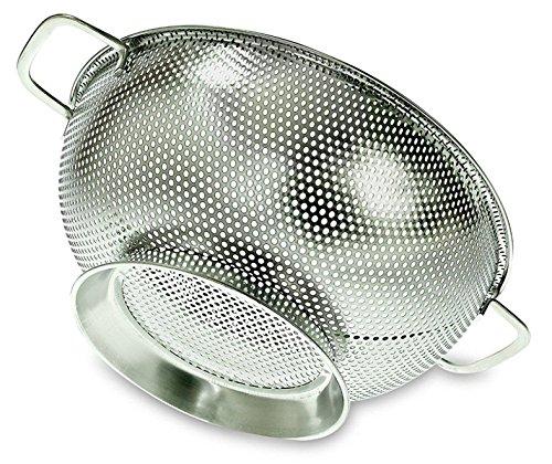 PriorityChef Sieb, Edelstahl, 3 Quart Küchen-Sieb mit großer, stabiler Basis (Waschbecken über Sieb)