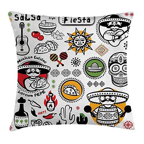 KAKICS Mexican Decorations Throw Pillow Cushion Cover