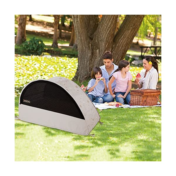 Koo-di 100 x 60 x 73 cm Sun and Sleep Pop Up Travel Bubble Cot  A comfortable cot ideal for use at home and on holidays or weekends away A polycotton travel cot Ideal 6-18 months and when outgrown, makes an ideal playhouse for little ones 8