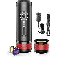 CONQUECO Tragbare Espressomaschine, Elektrische 12V Reise Kaffeemaschine für auto, Kompatibel mit Nespresso und L'OR…