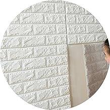 10PCS PE espanso 3D fai da te adesivi murali camera Home Decor bianco mattone muro di pietra Poster Lotto 70x15cm