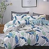 zyhYH Bettwäsche, Bequeme Bettwäsche, elegant Bedruckte Bettwäsche und Kissenbezüge im Schlafzimmer.Vierteiliger Baumwolltwill Farbe25 1,2m auf Baumwollbett