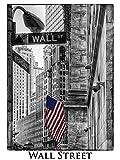 Artland Qualitätsbilder I Poster Kunstdruck Bilder 30 x 40 cm Städte Amerika Newyork Foto Schwarz Weiß B7NR New York Wall Street