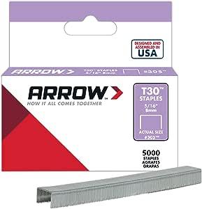 Box 5000 ARR305IP Arrow T30 Staples 305IP 8mm 5//16in