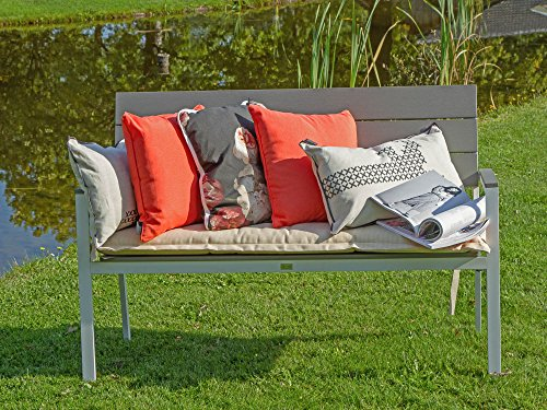 Bellagio Bravo Gartenbank 2 Sitzer 128 cm Weiß - 8