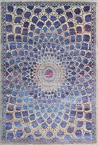 Beige Persische Wolle Teppich (handgeknotet Isfahan Persischen Oriental Wolle & Seide Bereich Teppiche Teppiche, Neutral Beige, 5'9