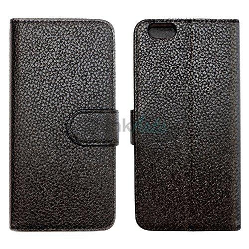 ZhinkArts Flip Case Tasche Handyschale Schutzhülle Etui für Apple IPhone 6/6S Rot Schwarz